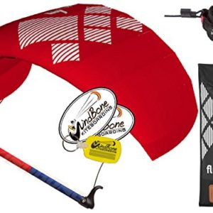 HQ4 Fluxx 1.3M Trainer Kite TR plus Safety Leash Bundle (4 items) Includes Safety Wrist Leash System + WindBone Kite Lifestyle Decals + Key Chain : Control Bar Foil Traction
