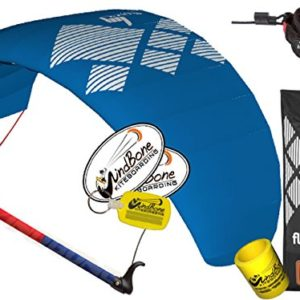 HQ HQ4 Fluxx 2.2M Trainer Kite TR plus Safety Leash Bundle (5 items) Includes Safety Wrist Leash System + WindBone Kite Lifestyle Decals + Key Chain + Koozie : Control Bar Foil Traction