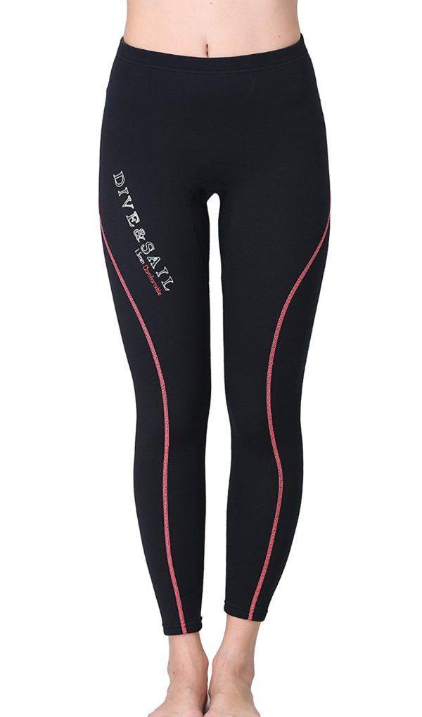 DIVE & SAIL Wetsuit Pants 1.5mm Women Neoprene Pants For Kayaking Surfing Snorkeling Padding