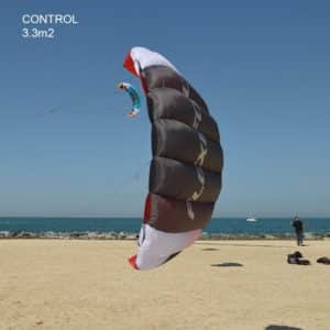 FLEXIFOIL 1.7m2/2.4m2/3.3m2 Control Kitesurf Trainer Kite inc. Bar and Lines