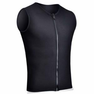 Realon Wetsuits Vest Mens Top Premium Shirt Neoprene 3mm Sleeveless front Zipper Sports XSPAN for Scuba Diving Surfing Swim Snorkel Suit