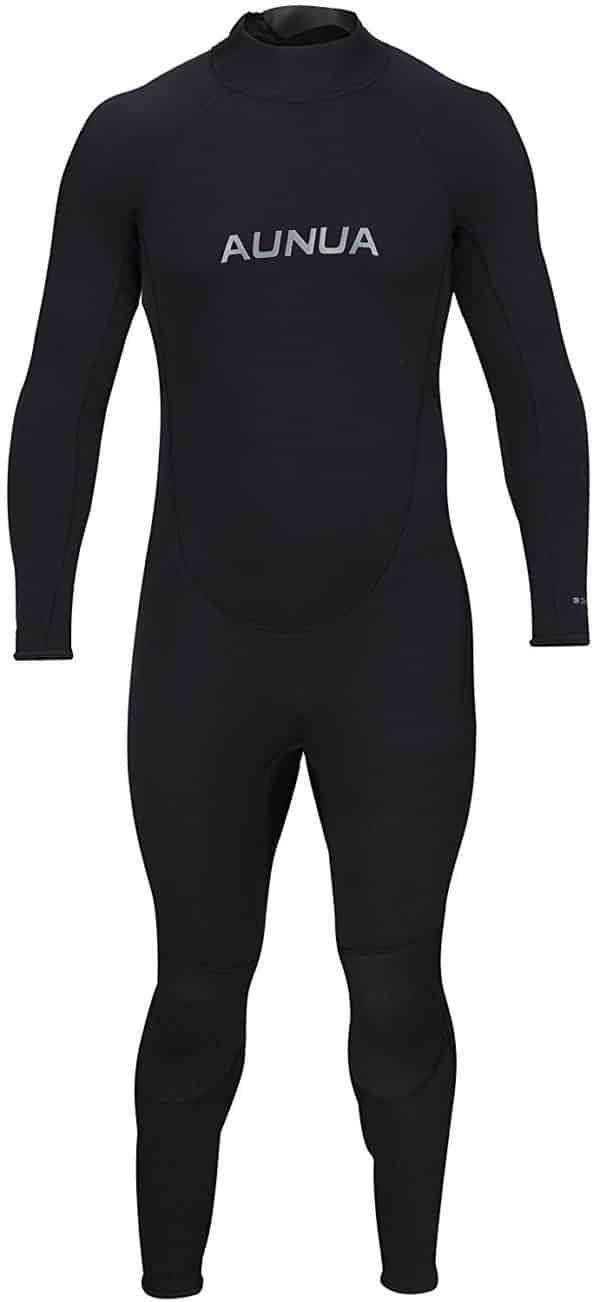 Aunua Men's 3/2mm Premium Neoprene Diving Suit Full Length Snorkeling Wetsuits