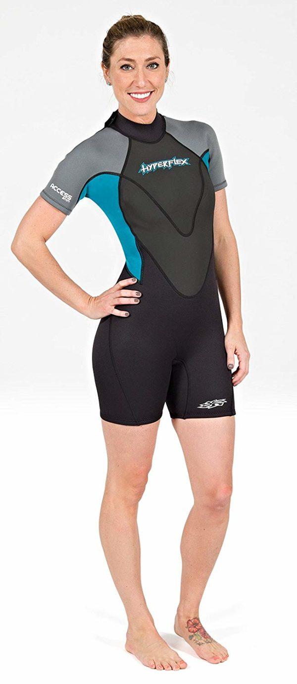 Hyperflex Wetsuits Women's Access 3/2mm Back Zip Spring - (Black