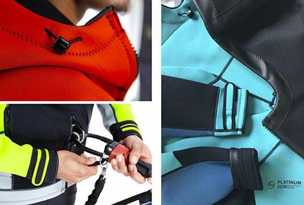 Platinum Sun Unisex Pro Neoprene Jacket Wetsuit Hoodie Harness Hook Hole