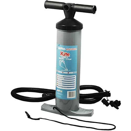 Bravo Patented 18 Inch Double Action Reduced Effort Device Kite Pump for Kitesurfing Kiteboarding