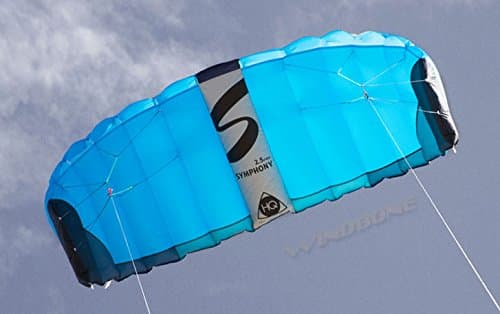 HQ Symphony Pro 2.5 Kite Mega Tail Bundle (4 Items) + Prism 75ft Tube Tail + Peter Lynn Heavy Duty Padded Kite Control Strap Handles Pair + WindBone Kiteboarding Lifestyle Stickers (Rainbow)