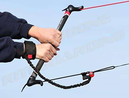 Peter Lynn Hype TR Foil Power 2-Line Control Bar Trainer Kite w Leash Kitesurfing Snowkiting Landboarding Buggy Traction Bundled with WindBone Kiteboarding Lifestyle Decals & Key Fob