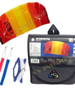 Prism Tensor 4.2 Power Foil Kite (Red) 3-Line Control Bar Trainer Bundle: Includes FREE 2ND Kite : HQ Symphony Beach II 1.3M Foil Kite + WBK Kiteboarding Key Fob Accessory Snow Traction