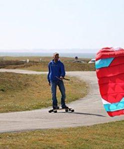 Peter Lynn UNIQ TR 1.5M Single Skin Power Kite Trainer 3-Line Control Bar Bundle (3 items) Includes + WindBone Kite Kitesurfing Lifestyle Decals + WindBone Kiteboarding Key Chain