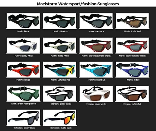 Maelstorm Marlin Clear Blue Watersport Sunglasses for Kitesurfing Kiteboarding Surfing Jet Skiing Boating Paddling Fishing Canoeing Kayaking Windsurfing