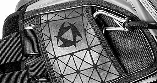 2016 Mystic Warrior Kitesurfing Kiteboarding Waist Harness Bundle (4 items) Includes + WindBone Kiteboarding Lifestyle Decals + WindBone Kitesurfing Key Chain + WBK Koozie Cooler