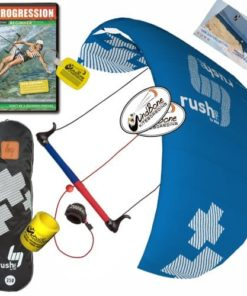 HQ HQ4 Rush V Pro 300 Kiteboarding Trainer Kite DVD Bundle : (5 Items) Includes: Kiteboarding DVD + WindBone Kiteboarding Lifestyle Decals + WBK Koozy Cooler + Key Chain
