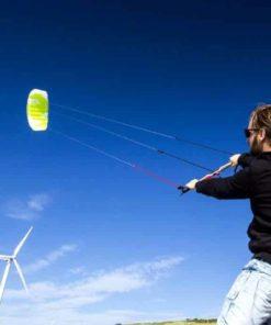 Peter Lynn Impulse TR 3.0M 3-Line Trainer Kite Control Bar Bundle + WindBone Key Chain + Stickers - Kitesurfing Kiteboarding Power Foil Traction Kiting (2018 Model)