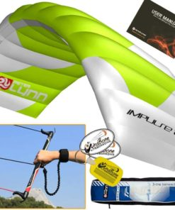 Peter Lynn Impulse TR 3.0M 3-Line Trainer Kite Control Bar Bundle + WindBone Key Chain + Stickers - Kitesurfing Kiteboarding Power Foil Traction Kiting (2018 Model)
