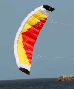 Hengda Kite NEW 1.4m Power Kite Outdoor FUN Toys Parafoil Parachute Dual Line Surfing ORANGE