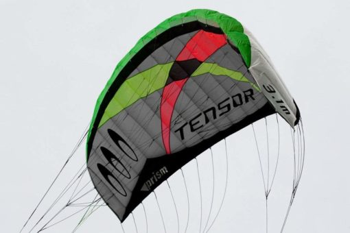 Prism Tensor 3.1 Power Foil Kite 3-Line Control Bar CX Kite Bundle: (5 Items) Includes 2ND Control Bar Kite : CX 1.5M Foil Control Bar Trainer Kite + WindBone Kiteboarding Lifestyle Decals + WindBone Kitesurfing Key Chain + WB Kiteboarding Koozy Cooler : Land Snow Trainer Foil Traction Power Kite