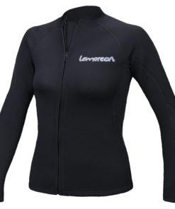 Lemorecn Women's 2mm Wetsuits Jacket Long Sleeve Neoprene Wetsuits Top
