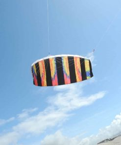 In the Breeze Tie Dye 62 Inch Sport Kite - Dual Line Stunt Parafoil - Includes Braided Kite Line and Bag - Easy to Fly