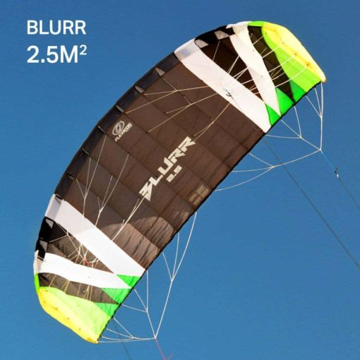 Flexifoil 2.5m2/3.5m2/5.0m2/7.0m2 4-Line Blurr Sport Power Kite by World Record Winning Power Kites Designer. Safe, Reliable & Durable Traction Kiting. Includes 90-Day.