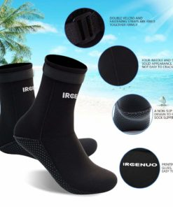 Water Shoes,Beach Socks Booties,Premium Men/Women/Girl 3mm Neoprene Boots Anti-Slip Diving Boot/Dive Boot/Snorkeling Socks Diver/Scuba Diving Shoes/Snorkel Boots/for Surfing,Water Sports