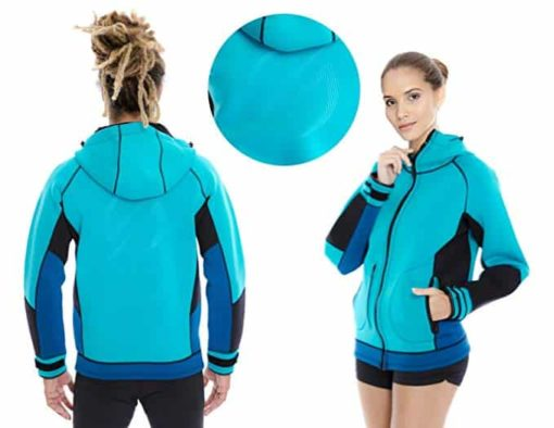 Platinum Sun Unisex Pro Neoprene Jacket Wetsuit Hoodie Harness Hook Hole