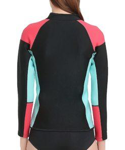 Lemorecn Women's 1.5mm Wetsuits Jacket Long Sleeve Neoprene Wetsuits Top