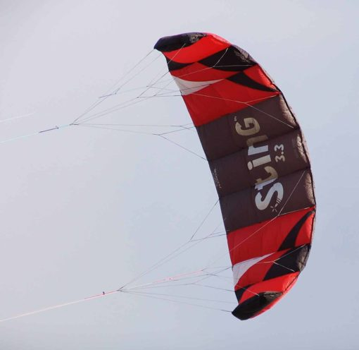 Flexifoil 3.3m2/3.1m Wide Sting 4-line Power Kite with 90 Day! By World Record Power Kite Designer - Safe, Reliable and Durable Power Kiting, Kite Training and Traction Kiting.
