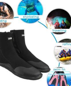 Sibba Unisex 5mm Premium Neoprene Hi Top Wetsuits Zipper Boot Diving Boots Water Sports Boots Shoes