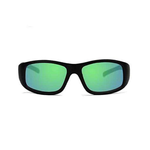 KZ Floating Polarized Kids Sunglasses (Black Frame, Green Lenses)