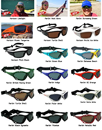 Maelstorm Watersport Sunglasses Marlin Screaming Green for Kiteboarding Surfing Waterskiing Windsurfing Wakeboarding Boating Kayaking Canoeing