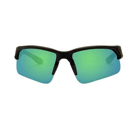 KZ Floating Polarized Sport Sunglasses for Men and Women (Black Frame, Green Lenses)