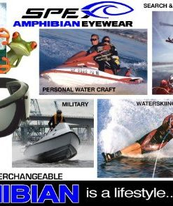 Spex Amphibian Eyewear ROYAL with All WEATHER Polarized Lenses. Made in USA. Float. 100% Uv Protection. SPEX are ideal for all water sports. Protect 2 of Your Most Valuable Assets...Your Eyes