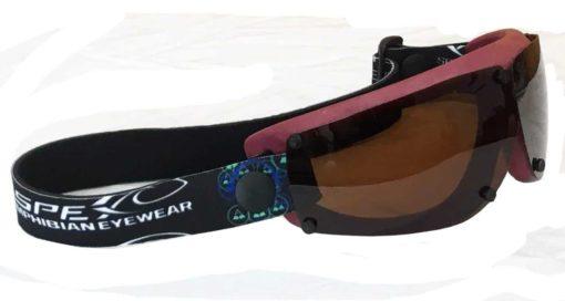 Spex Amphibian Eyewear- Limited Edition Maroon with All Weather Polarized Lenses- Kitesurf, Jetski, Water Sport Goggles