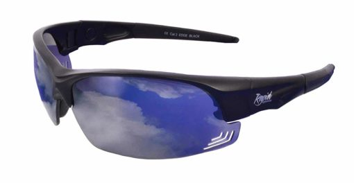 Edge Black Sunglasses for Pilots: Interchangeable UV400 Lenses