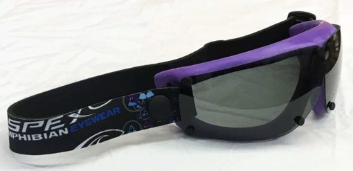 Spex Amphibian Eyewear- Limited Edition Purple with All Weather Polarized Lenses- Kitesurf, Jetski, Water Sport Goggles