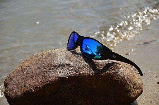 KZ Floating Polarized Kids Sunglasses (Black Frame, Blue Lenses)